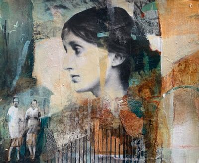 """Mixed Media Figurative Art, Contemporary Art, Portrait, Fine Art For Sale """"A SIGNIFICANT HISTORY"""" by Intuitive Artist Joan Fullerton"""