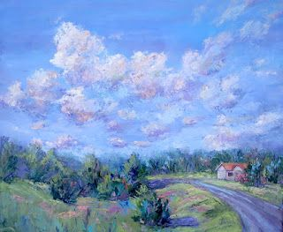 Driven by the Clouds, New Contemporary Landscape Painting by Sheri Jones