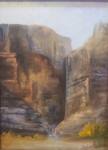 Barbara Haviland, Santa Elena Canyon, Big Bend National Park, Plein Air, Landscape