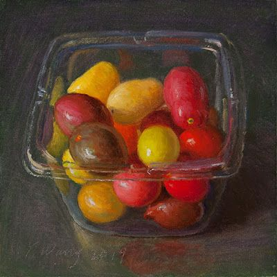 Cherry tomatoes still life food painting a day daily painting