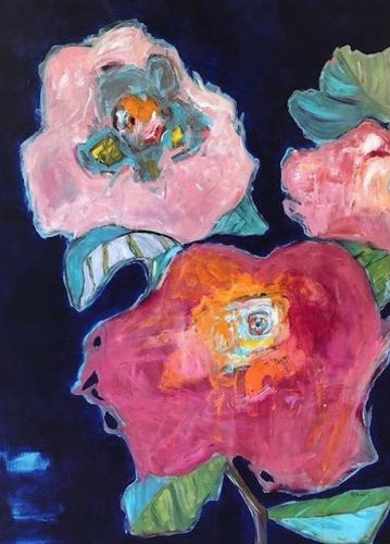 "Contemporary Expressionist Still Life Fine Art Painting ""Life Abound II"" by Oklahoma Artist Nancy Junkin"