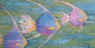 Fish Painting, Angelfish Painting, Textured Painting,SOLD