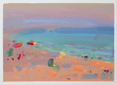 On location with gouache , July 8, 3 and 4