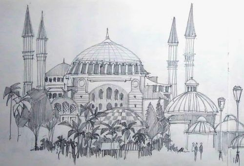 Istanbul in pencil