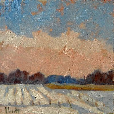 Snowy Winter Landscape Original Artwork Buy one get one Free Heidi Malott