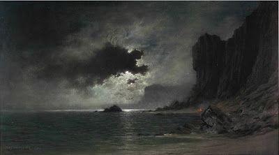 Jules Tavernier, Moonlight on the Coast