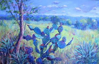 Cactus, New Contemporary Landscape Painting by Sheri Jones