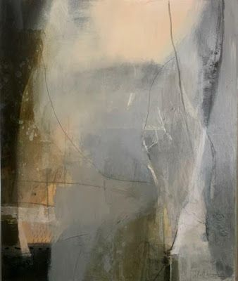 """Abstract Art, Mixed Media, Contemporary Art """"SILENCE"""" by Intuitive Artist Joan Fullerton"""