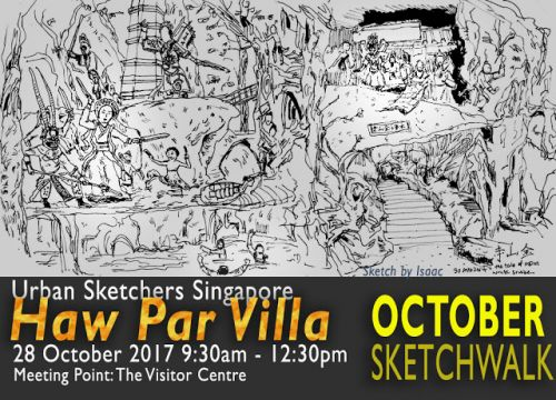October Sketchwalk at Haw Par Villa