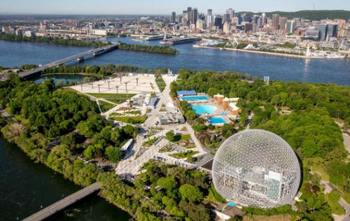 A New Landscape in Montreal Weaves Together Icons of the City's Expo 67