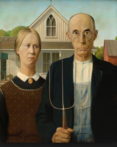 Grant Wood. Born on this day in 1891. Beyond American Gothic