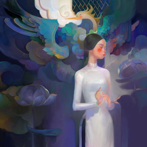 Elegant Figures Inhabit the Surreal Dreamworlds of Thanh Nhàn Nguyễn's Sublime Illustrations