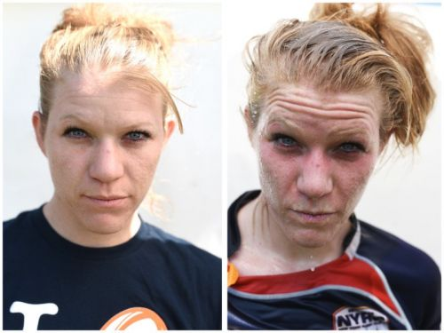 Portraits of Athletes Before and After They Get Sweaty