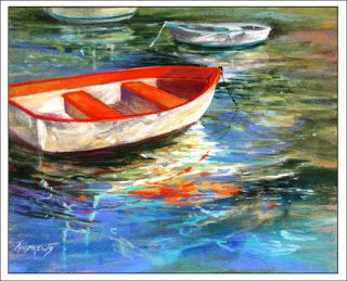 Portofino Interlude..Pastel..Texas Artist..Rae Andrews