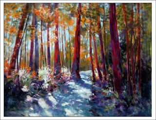 Springbrook Dynamic..Pastel..Texas Artist..Rae Andrews