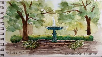 Journal - Fountain at Columbia Square - Savannah GA