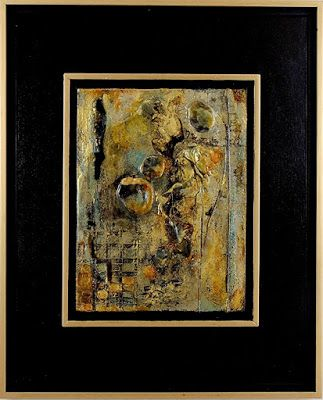 """Mixed Media Art, Organic Abstract, Contemporary Art, """"Stepping Stones"""" by Texas Contemporary Artist Sharon Whisnand"""