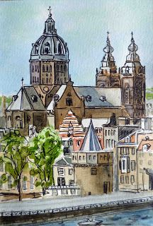 Amsterdam Holland - Sketchbook Project