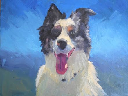My Favorite Dog Painting, Small Oil Painting, Daily Painting, Pet Portrait