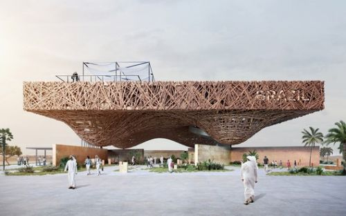 Kozlowski + Cardia Design Floating Tree Branch Pavilion for Expo 2020