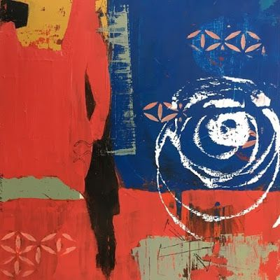 """Contemporary Art, Abstract,Expressionism, Studio 9 Fine Art """"Dial it up 10x"""" by International Abstract Artist Amanda Saint Claire"""