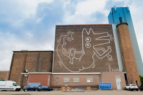 A Keith Haring Mural Painted in 1986 and Under Wraps for 30 Years Has Been Revealed in Amsterdam