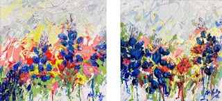 "New ""Melting Blues"" Bluebonnet Series by Palette Knife Artist Niki Gulley"