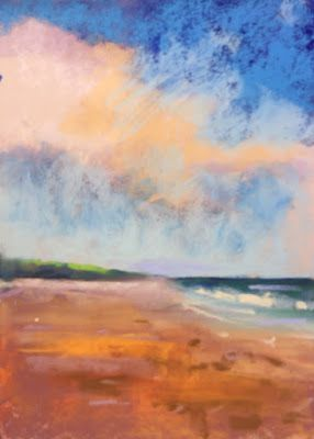 "Contemporary Beach Landscape, ""Beach Walk 7,"" by Amy Whitehouse"