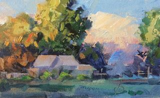 MINIATURE LANDSCAPE OIL PAINTING by TOM BROWN