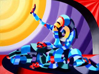 Mark Webster - Jesse and Shandra - Abstract Figurative Oil Painting