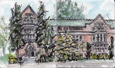 JUNE 2019 Sketchcrawl: Reed Canyon and Reed College Campus