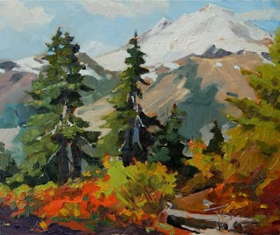 """ Mount Baker Unveiled"" plein air, mountain, landscape by Robin Weiss"