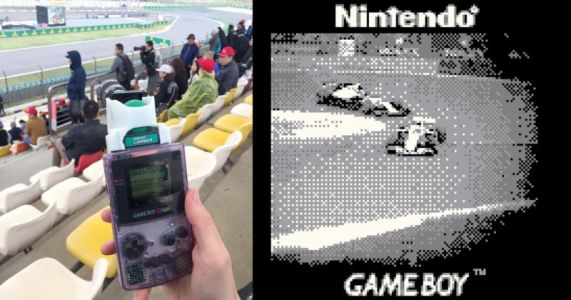 This Guy Shot a Formula 1 Race with a Game Boy Camera