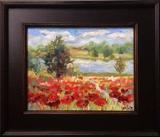 """New """"Peaceful Poppies"""" Palette Knife Painting by Niki Gulley"""