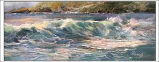 Morning Glow on Sugar Beach..Pastel..Texas Artist..Rae Andrews