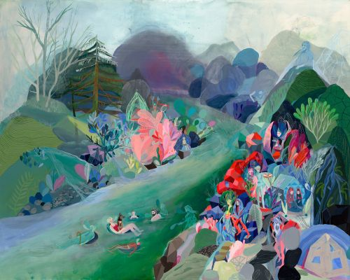 Layered Paintings by Betsy Walton Build Memory into Colorful Explorations of the Pacific Northwest