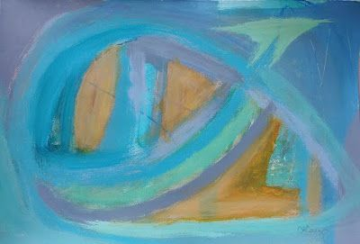 "Expressionism, Mixed Media Painting, Contemporary Art, ""Sea Faring"