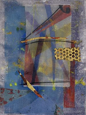 """Contemporary Abstract Painting on Paper """"Star Gate"""" by Santa Fe Contemporary Artist Sandra Duran Wilson"""
