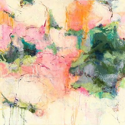 """Contemporary Abstract Expressionist Fine Art Painting, Colorful Acrylic Painting for Sale """"ELEGANTLY FORGIVEN"""" by Contemporary Expressionist Pamela Fowler Lordi"""