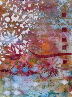 "Contemporary Abstract Floral Art Painting ""Flowers Forever"" by Santa Fe Contemporary Artist Sandra Duran Wilson"