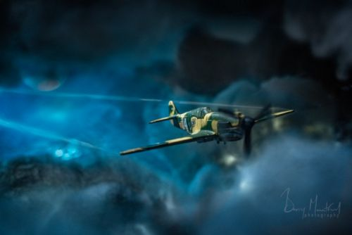 Shooting an Action Photo of a Toy Fighter Plane