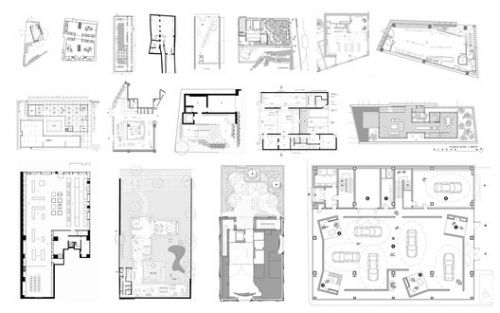 Retail Architecture from 100 to 1000 Square Meters: Examples in Plan and Section