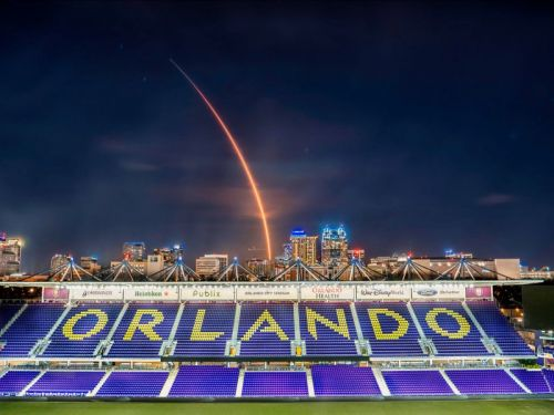 How I Got to Shoot a SpaceX Rocket Launch from Orlando's Soccer Stadium