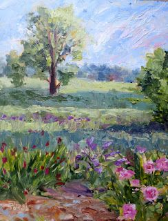 Beyond the Garden, New Contemporary Landscape Painting by Sheri Jones