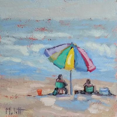 Happy Hour Best Friends Beach Art Heidi Malott