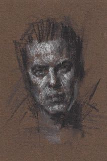 Portrait of a man 3x5 drawing