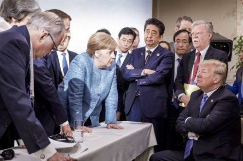 Trump at G7: How Photos of the Same Scene Can Tell Different Stories