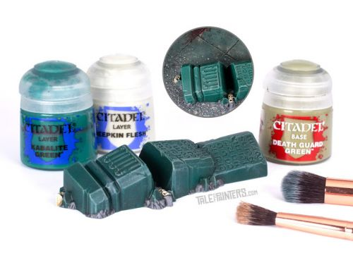 Tutorial: How to paint jade green ruins that match the Warcry gaming board