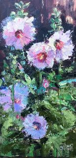 Contemporary Impressionistic Floral Palette Knife Original Oil Painting by Sheri Jones