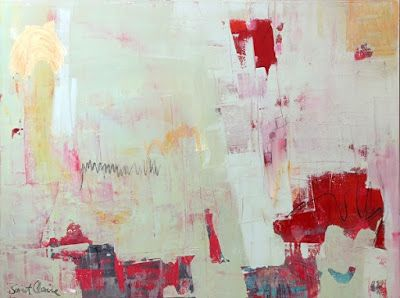 """Contemporary Art, Abstract,Expressionism, Studio 9 Fine Art """"Year of the Dog"""" by International Abstract Artist Amanda Saint Claire"""